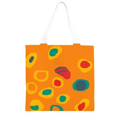 Orange abstraction Grocery Light Tote Bag