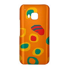 Orange abstraction HTC One M9 Hardshell Case