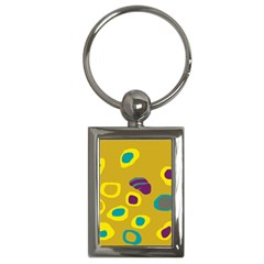 Yellow abstraction Key Chains (Rectangle)