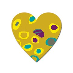 Yellow abstraction Heart Magnet
