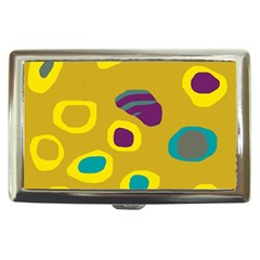 Yellow abstraction Cigarette Money Cases