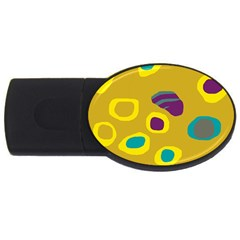 Yellow abstraction USB Flash Drive Oval (2 GB)