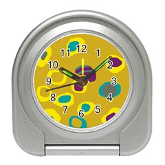 Yellow abstraction Travel Alarm Clocks