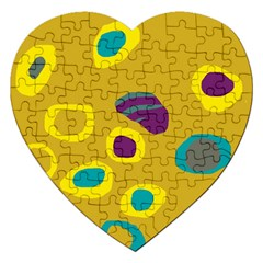 Yellow abstraction Jigsaw Puzzle (Heart)