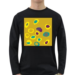 Yellow abstraction Long Sleeve Dark T-Shirts