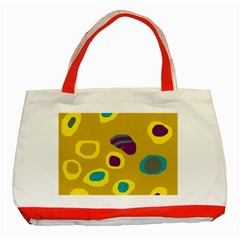Yellow abstraction Classic Tote Bag (Red)