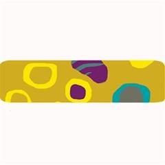Yellow abstraction Large Bar Mats