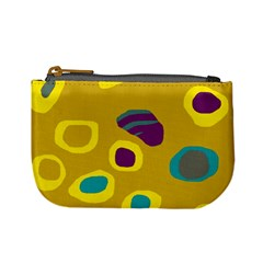 Yellow abstraction Mini Coin Purses