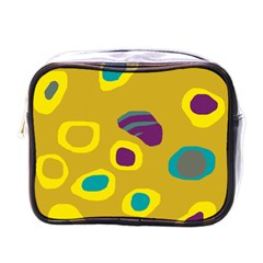 Yellow abstraction Mini Toiletries Bags