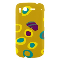 Yellow abstraction HTC Desire S Hardshell Case