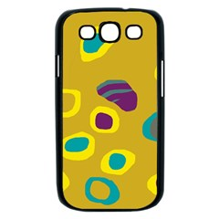 Yellow abstraction Samsung Galaxy S III Case (Black)
