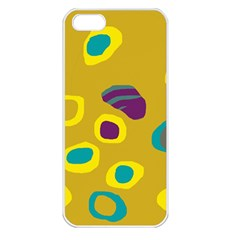Yellow abstraction Apple iPhone 5 Seamless Case (White)