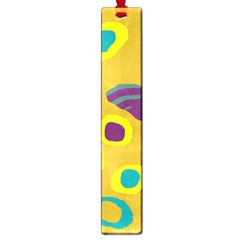 Yellow abstraction Large Book Marks