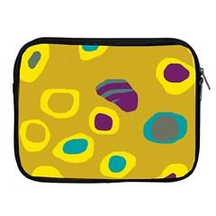 Yellow abstraction Apple iPad 2/3/4 Zipper Cases