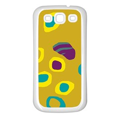 Yellow abstraction Samsung Galaxy S3 Back Case (White)