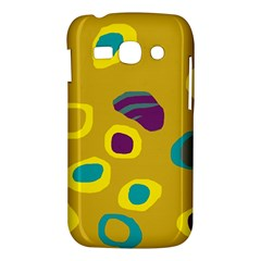 Yellow abstraction Samsung Galaxy Ace 3 S7272 Hardshell Case