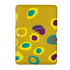 Yellow abstraction Samsung Galaxy Tab 2 (10.1 ) P5100 Hardshell Case