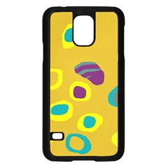 Yellow abstraction Samsung Galaxy S5 Case (Black)
