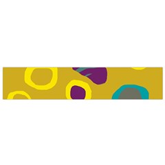 Yellow abstraction Flano Scarf (Small)