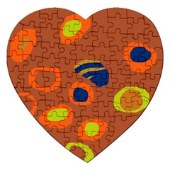Orange abstraction Jigsaw Puzzle (Heart)