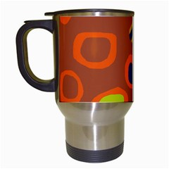 Orange abstraction Travel Mugs (White)