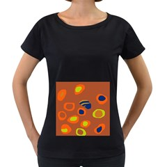 Orange abstraction Women s Loose-Fit T-Shirt (Black)