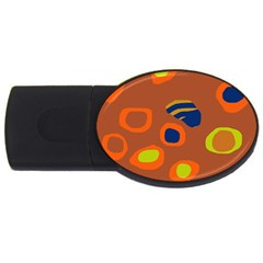 Orange abstraction USB Flash Drive Oval (4 GB)
