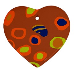 Orange abstraction Heart Ornament (2 Sides)