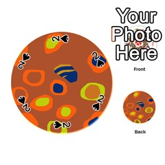 Orange abstraction Playing Cards 54 (Round)