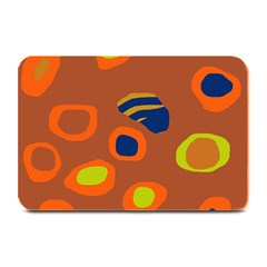 Orange abstraction Plate Mats
