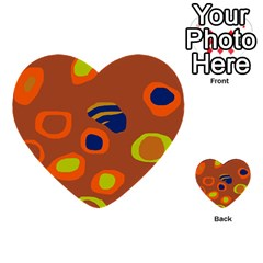 Orange abstraction Multi-purpose Cards (Heart)