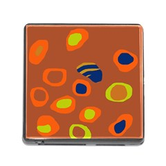 Orange abstraction Memory Card Reader (Square)