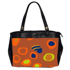 Orange abstraction Office Handbags (2 Sides)