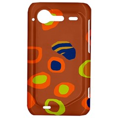 Orange abstraction HTC Incredible S Hardshell Case