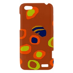 Orange abstraction HTC One V Hardshell Case