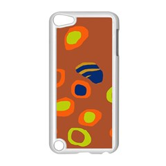 Orange abstraction Apple iPod Touch 5 Case (White)