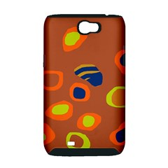 Orange abstraction Samsung Galaxy Note 2 Hardshell Case (PC+Silicone)