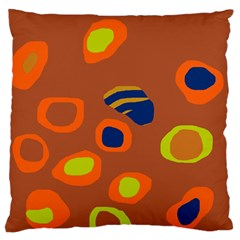 Orange abstraction Large Flano Cushion Case (One Side)