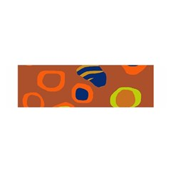 Orange abstraction Satin Scarf (Oblong)