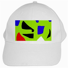 Green abstraction White Cap