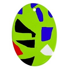 Green abstraction Ornament (Oval)