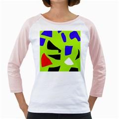 Green abstraction Girly Raglans