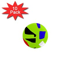 Green abstraction 1  Mini Magnet (10 pack)