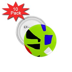 Green abstraction 1.75  Buttons (10 pack)