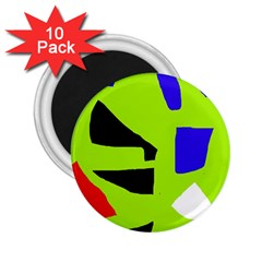 Green abstraction 2.25  Magnets (10 pack)