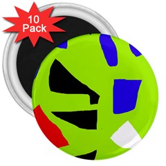 Green abstraction 3  Magnets (10 pack)