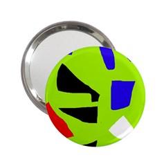 Green abstraction 2.25  Handbag Mirrors