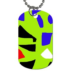 Green abstraction Dog Tag (One Side)