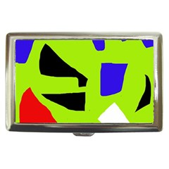 Green abstraction Cigarette Money Cases