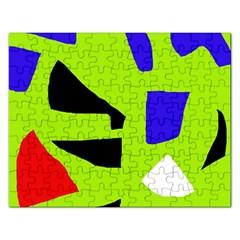 Green abstraction Rectangular Jigsaw Puzzl